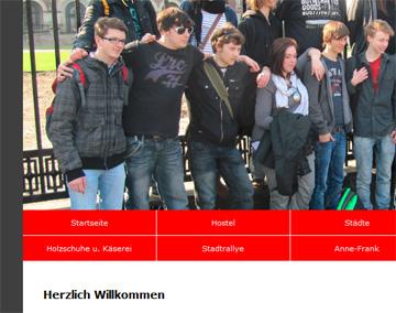 Homepage Klassenreise Amsterdam